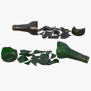 Broken Bottle HD model