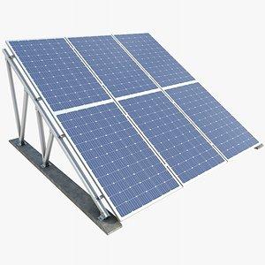 Solar Panel 3 With PBR 4K 8K 3D model