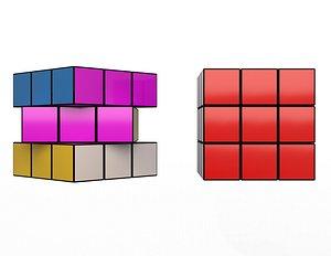 3D Rubiks Puzzle Cube