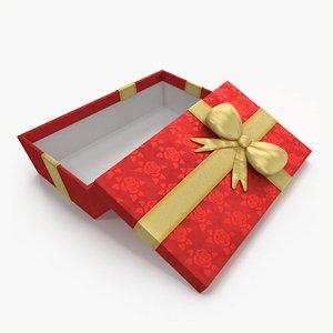 3D Gift Box Open Red model