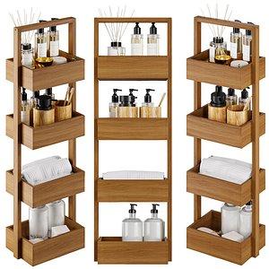 3D Zara Home Wooden Shelf