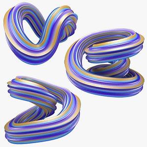 3D Abstract Shape Set