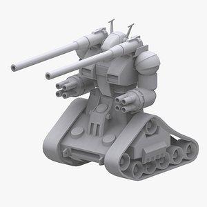 3D gundam federation guntank