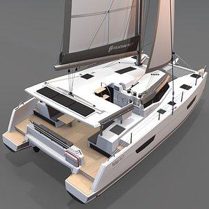 3D 3D Catamaran Fountaine Pajot Isla 40