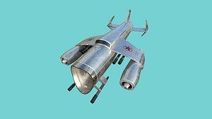 aircraft spaceship 04 - 3D model