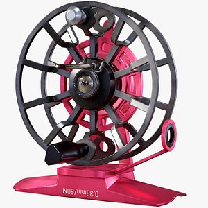 3D fly reel fishing