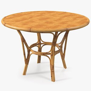 3D model bamboo dining table