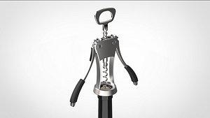 wine opener bottle 3D model