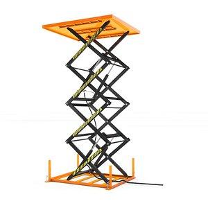 3D lifting goods platform model