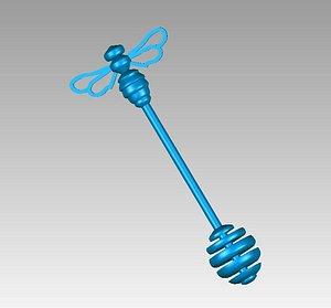 3D model honey wand bee