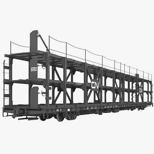 Railroad car transporter model