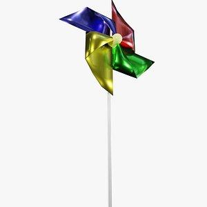 3D pinwheel toy