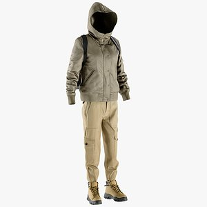 jacket pants boots 3D
