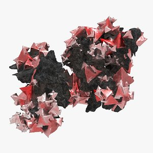 3D crystal red
