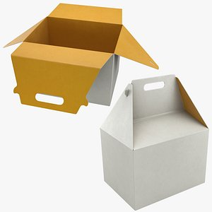 Food Box 01 Set 3D model