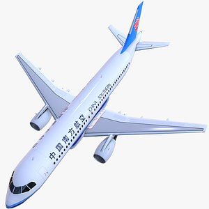 3D airplane airbus a320 china