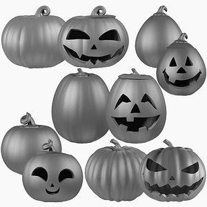 3D Halloween Pumpkins Family Mega Collection Mesh V1