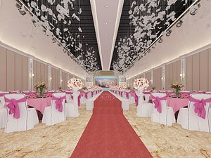 3D model Banquet hall