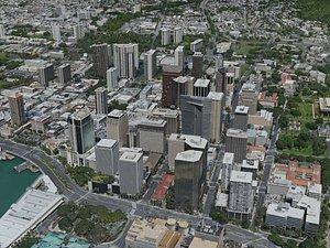 honolulu city 3D model