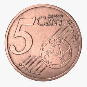 euro cent eur 3D model