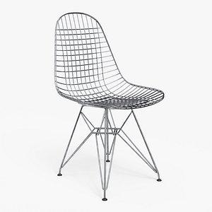 3D Wire Chair DKR - PBR model