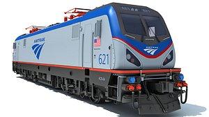3D amtrak locomotive electric