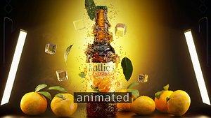 3D Orange Soda Splash Animated model