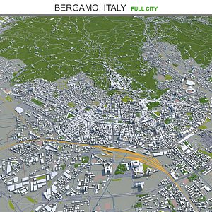 3D Bergamo Italy model