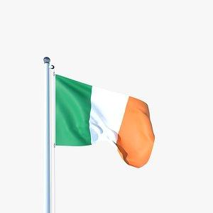 3D Animated Flag of Ireland