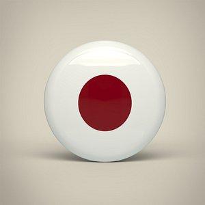 Japan Badge 3D
