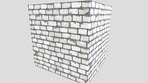 3D model pbr brick walls
