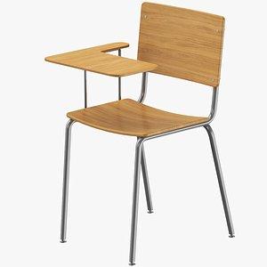 3D Classroom Chair model