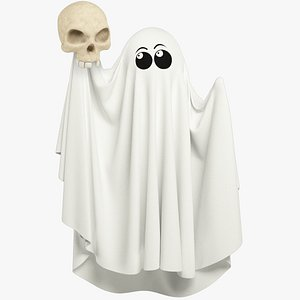 Funny Ghost and Skull Collection 3D model