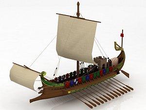 Roman Warship 31 B.C. 3D model