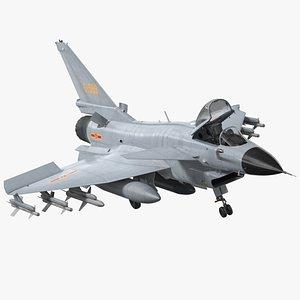 3D j10 vigorous dragon armament model