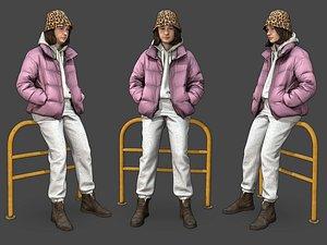 3D Stylized Woman Character