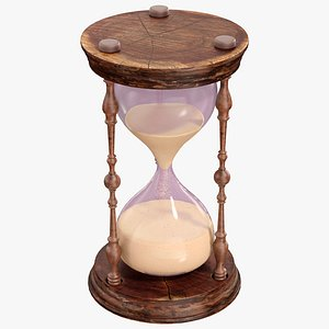 hourglass glass hour 3D model