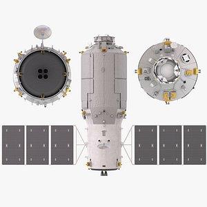 cargo spacecraft Tianzhou-2 3 4 3D model