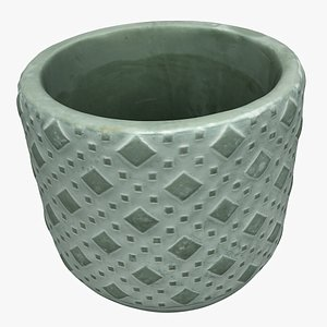3D decoration pot model