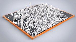 Cityscape New York USA 3D model