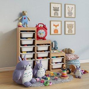 set toys furniture room 3D model