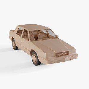 3D 1993 Dodge Dynasty model
