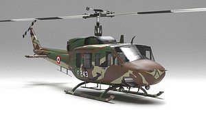 helicopter uh 1 3D model
