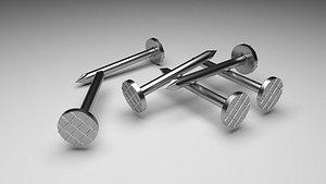 3D model Steel Nails