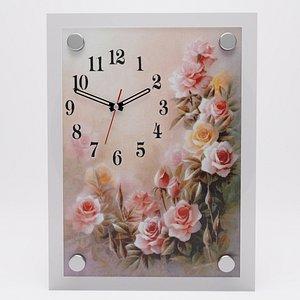 3D Wall clock Rose garden