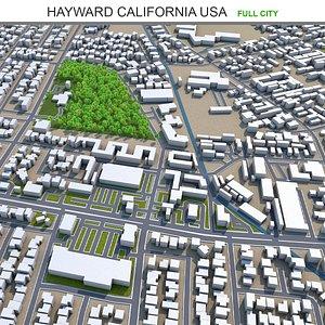 Hayward California USA 3D model