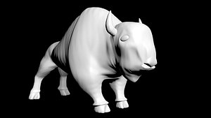 bison buffalo animal 3D model
