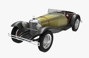3D classic mercedes benz ssk model