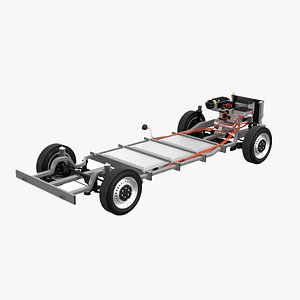 chassis van electric 3D
