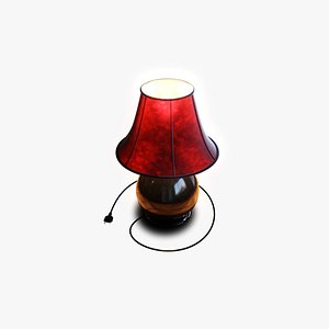 lamp lampshade red 3D